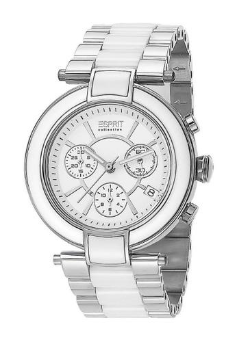 ESPRIT white Esprit ESEL101582F02 Physis Day Ceramic Lady Watch 65A35ACBFD0F2CGS_1