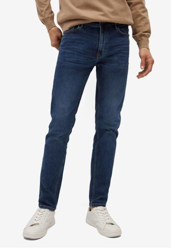 MANGO Man blue Skinny Dark Wash Jude Jeans 5F717AAE60CDDDGS_1