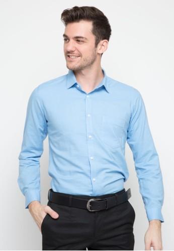 RICCIMAN blue Ricciman Slim Fit Lengan Panjang Blue 561AAAA3D65D88GS_1