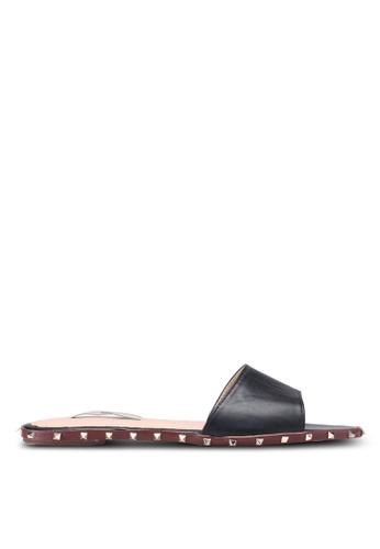 Nose black Studded Slide On Sandals E9C49SHA257674GS_1
