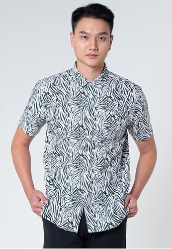 Private Stitch black Private Stitch Men Casual Short Sleeve Regular Fit Cotton Printed Shirt 387A2AA009E477GS_1