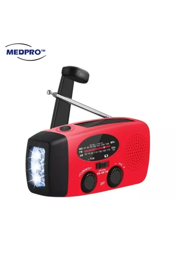 MEDPRO [BEST RADIO] Emergency Radio and Torch Light with 3 Charging Method: Solar / Hand Crank / USB Cable 99FF3SE876963AGS_1