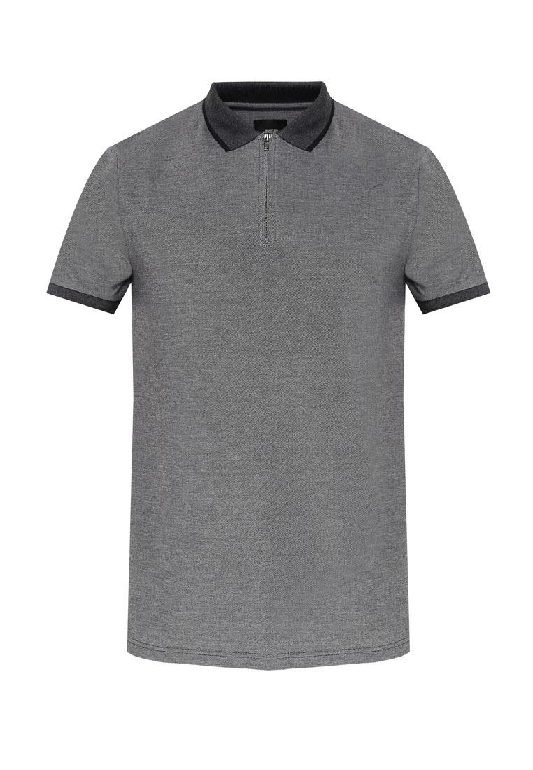 Shirt Polo Zip Grey Light Menswear Burton Neck London Grey FHTaOqO