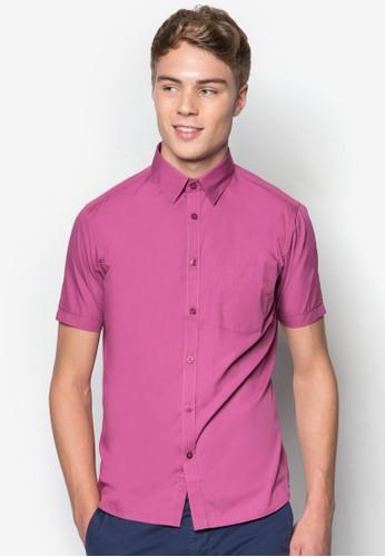 基本款棉質短袖襯衫, 服飾esprit taiwan, 服飾