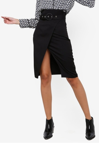 ZALORA black Wrap Skirt 8912FAA50A1B4AGS_1