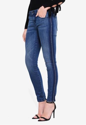 Guess blue Annette Gem Embellished Skinny Jeans 213CDAA59A7D7FGS_1