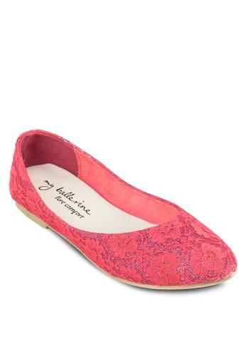 Lilliana esprit 面試舒適蕾絲平底鞋, 女鞋, 鞋