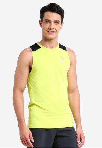 Odlo black and yellow Zeroweight Ceramic BL Tank Top 7DEBCAA6B5C520GS_1