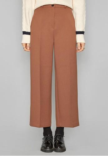 溫和觸感半鬆緊西褲,esprit 品牌 服飾, 直腳褲