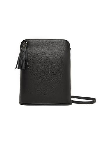 Lara black Women's Cowhide Zipper Mini Cross-body Bag - Black (Large Size) 870A8AC50A9D18GS_1