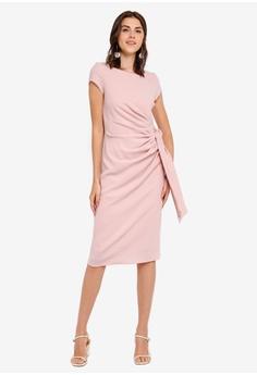 69395fbadd03 Dorothy Perkins pink Lf  Blush Crepe Tie Side Dress B8E22AA0343342GS 1