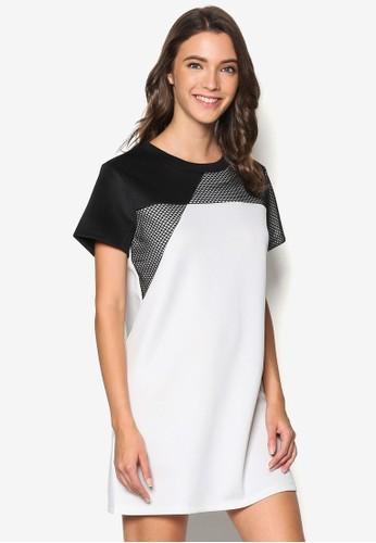 Mesh Pieceesprit 澳門d T-Shirt Dress, 服飾, 洋裝