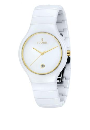 Fjord white Fjord BOLLE FJ-3006-44 Men's White Ceramic Bracelet Watch 98DA2ACE205F3EGS_1
