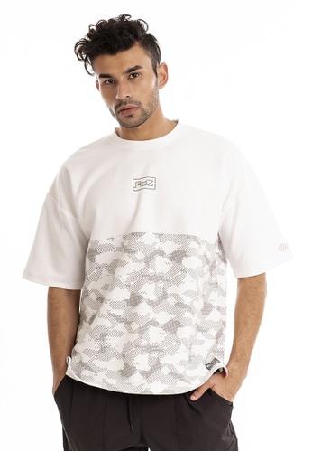 RYZ white RYZ Mid-pattern White Short Sleeve Sweat T-Shirt. 28353AA090CB46GS_1