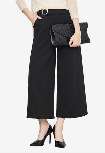 Kodz black Side Metal Belt Culottes 552D7AAF3E577AGS_1