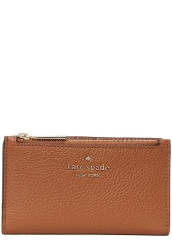 Kate Spade brown Kate Spade Leila Small Slim Bifold Wallet in Warm Gingerbread 716FEAC6A4513FGS_1