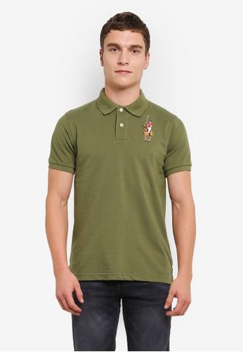 MILANO 綠色 Embroidered Polo Shirt MI248AA0S1NBMY_1