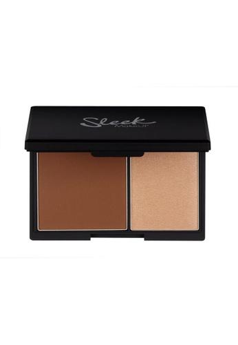 Sleek brown Sleek MakeUP Contour Kit Medium 885 SL667BE0RO5FMY_1