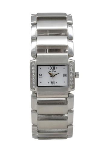 Alba silver ALBA Jam Tangan Wanita - Silver White - Stainless Steel - AXT479 F7404ACDD03091GS_1