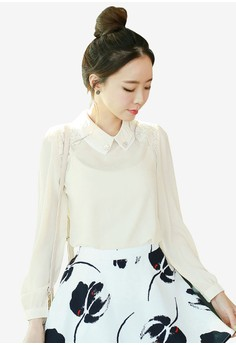 Chiffon Top with Lace