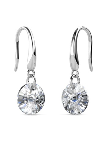 Her Jewellery silver Circlet Hook Earrings (Crystal White) - Made with premium grade crystals from Austria HE210AC0GJSBSG_1