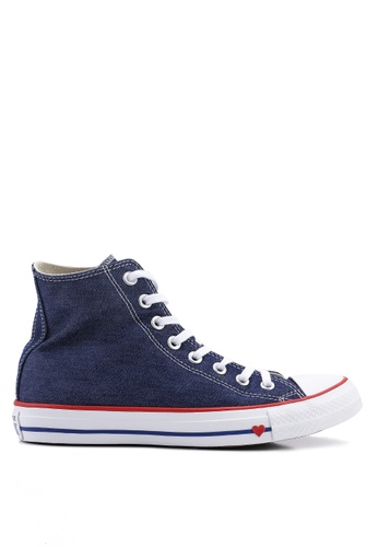 545ec4d78523 Converse navy Chuck Taylor All Star Sucker For Love Hi Sneakers  43054SHB18CCBBGS 1