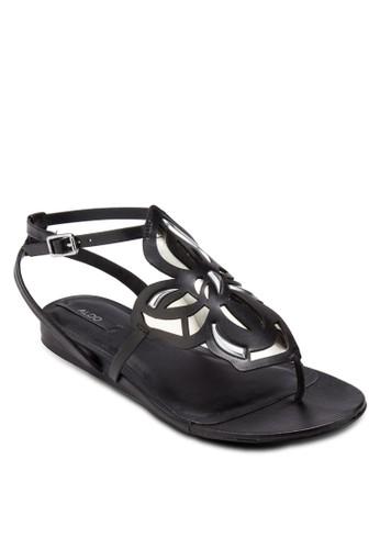 Kyazalora taiwan 時尚購物網鞋子ra 雕花鏤空夾腳涼鞋, 女鞋, 涼鞋