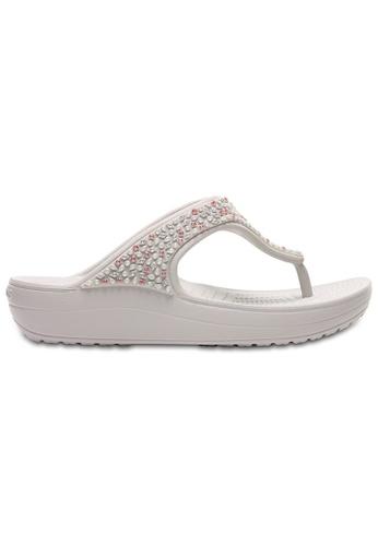 84671ce3969b Crocs white Women s Crocs Sloane Embellished Flip Pwh CR883SH0RMTEMY 1