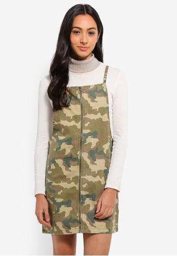 14d0c901a51 Cotton On green Faith Denim Pinafore Mini Dress 2291CAA97579F5GS 1