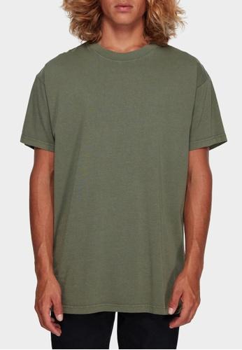 Billabong green Premium Wave Tee 02080AA16AA462GS_1