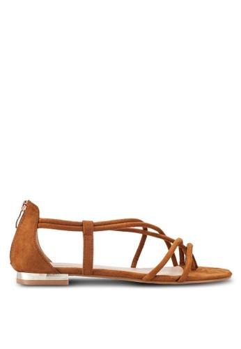 ZALORA brown Strappy Sandals 31CB8SHC44277EGS_1