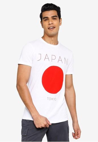 KOTON white Japan T-Shirt 1F10EAA17DC2B9GS_1
