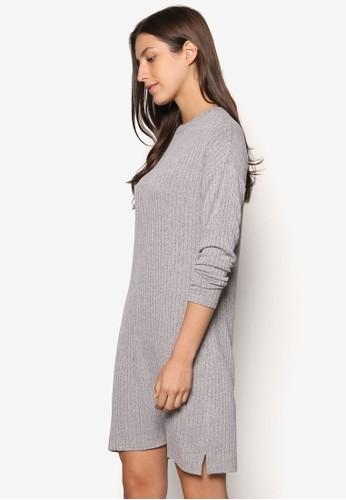 Cesprit分店ollection 羅紋長袖連身裙, 服飾, 洋裝