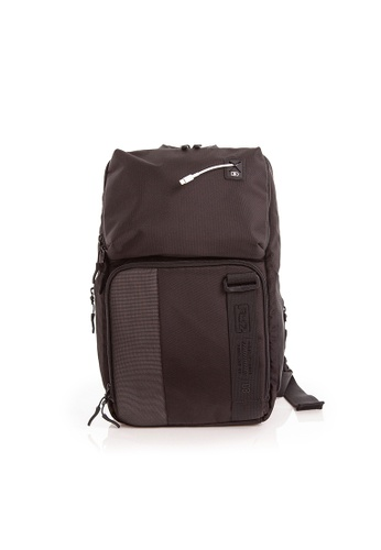 RYZ black RYZ Crossbody Sling Black Backpack. 8630AAC6F97BE2GS_1