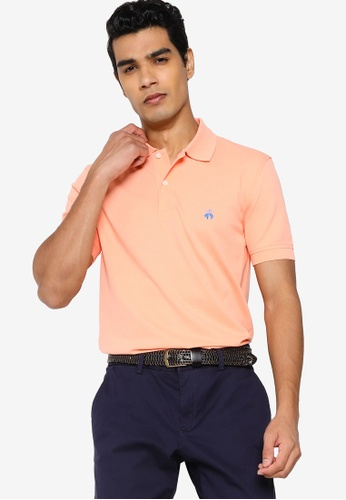 Brooks Brothers orange Knit Polo Shirt 7E868AABCC38BAGS_1