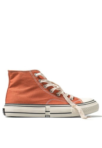 Twenty Eight Shoes High Top Canvas Platform Sneakers XO-08-2 7F8AFSHE1E4573GS_1