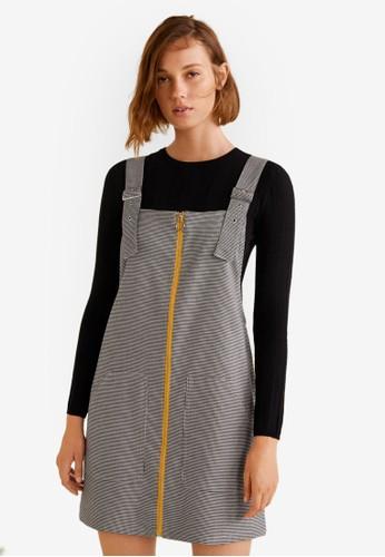 Mango black Pockets Pinafore Dress 94001AA6F5CCC2GS_1