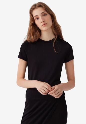 OVS black Round Neck T-Shirt AA775AA94EAA8DGS_1