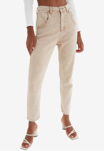 Trendyol brown High Waist Mom Jeans 12941AA9BD48EAGS_1