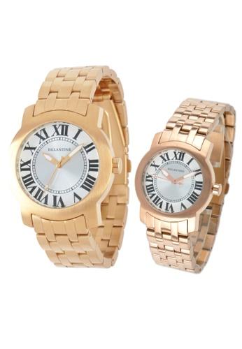 EGLANTINE gold EGLANTINE® - Emile & Emily - 2 Quartz Watches Rose Gold Plated Steel on Bracelet A1D85ACD05D92BGS_1