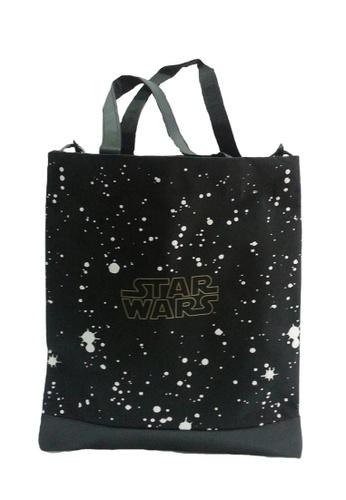 Star Wars black Disney Star Wars Star Space Tote Bag 839A3KCFAFFF8AGS_1