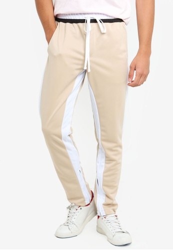 Cotton On 白色 條紋滾邊運動褲 CCD18AACB32E81GS_1