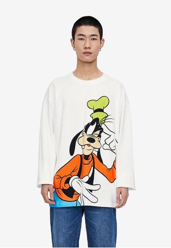 URBAN REVIVO white Disney Series T-Shirt 00C52AAB80C5EDGS_1