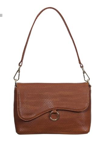 Verchini brown Verchini Asymmetrical Shoulder Bag B8999ACB7F8626GS_1