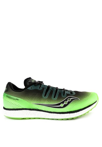 Saucony black and multi Freedom Iso 9BCD9SH8F9A1B9GS_1