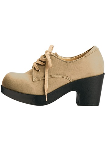 paperplanes Paperplanes-1701 Fashion Lace-Up Low Top Cuban Heel Boots Shoes US Women Size PA110SH17ADQHK_1
