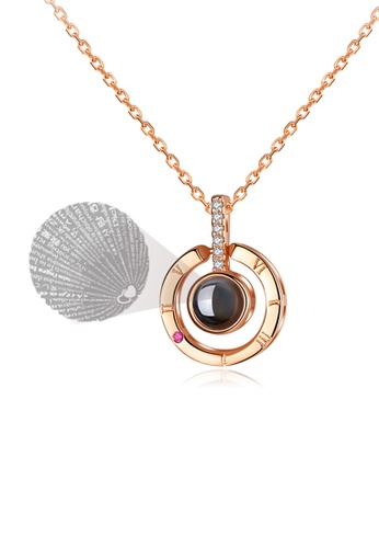 """CELOVIS gold CELOVIS - Fayre """"I Love You"""" Projection Necklace in Rose Gold F3D91ACF8804B7GS_1"""