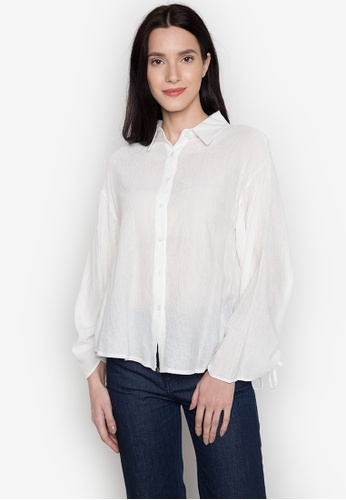 Chloe Edit white Polo With Gathered Sleeves CH672AA0JUH7PH_1
