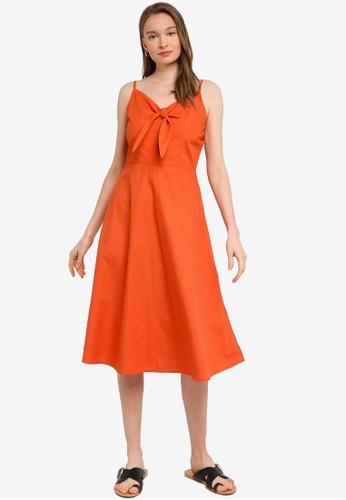 Compania Fantastica orange Orange Midi Dress with Bow 9F2F7AA11D1D9EGS_1