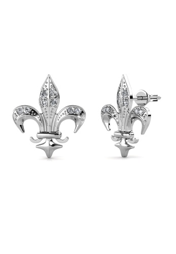 Her Jewellery silver Medieval Earrings (White Gold) - Made with premium grade crystals from Austria FBC11ACE367BF6GS_1